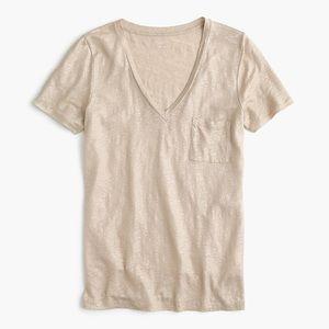 Gold J. Crew T Shirt